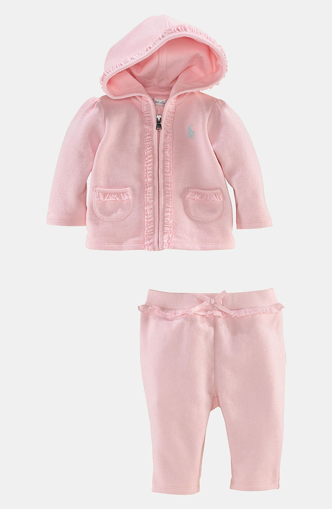 Alternate Image 2  - Ralph Lauren Hoodie & Pants (Infant)