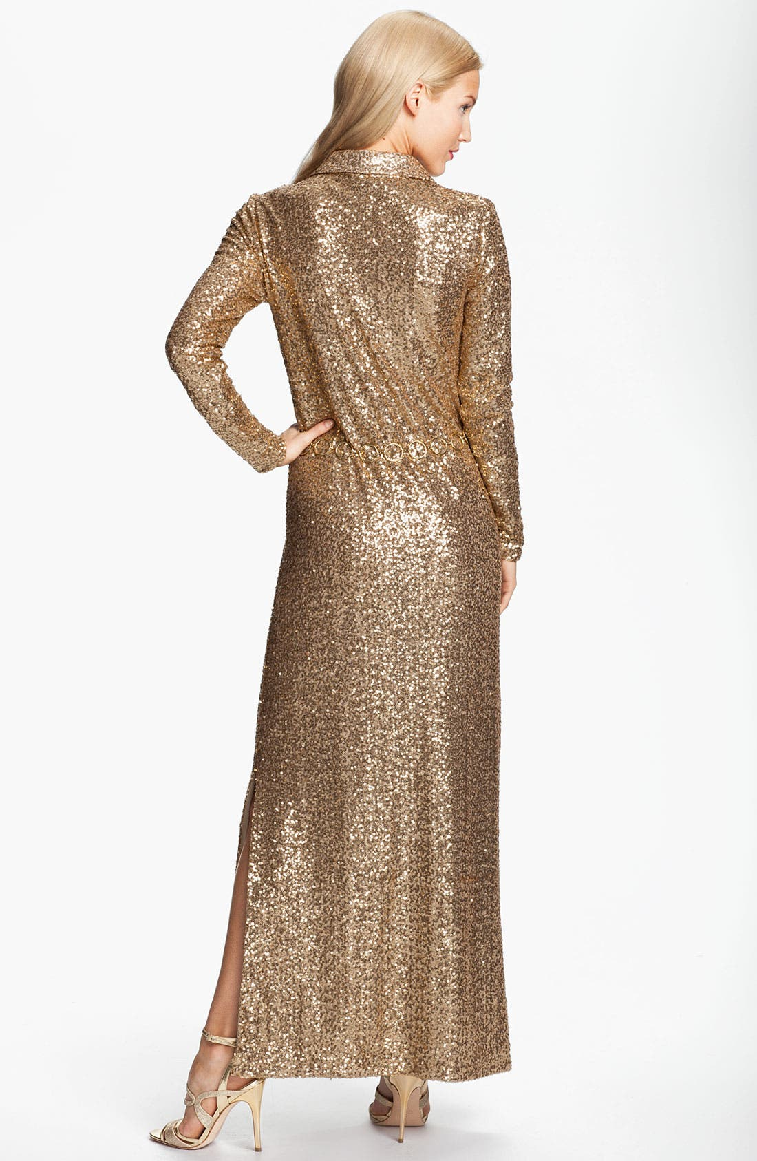 Alternate Image 2  - Anne Klein 'Leo' Belted Sequin Maxi Dress