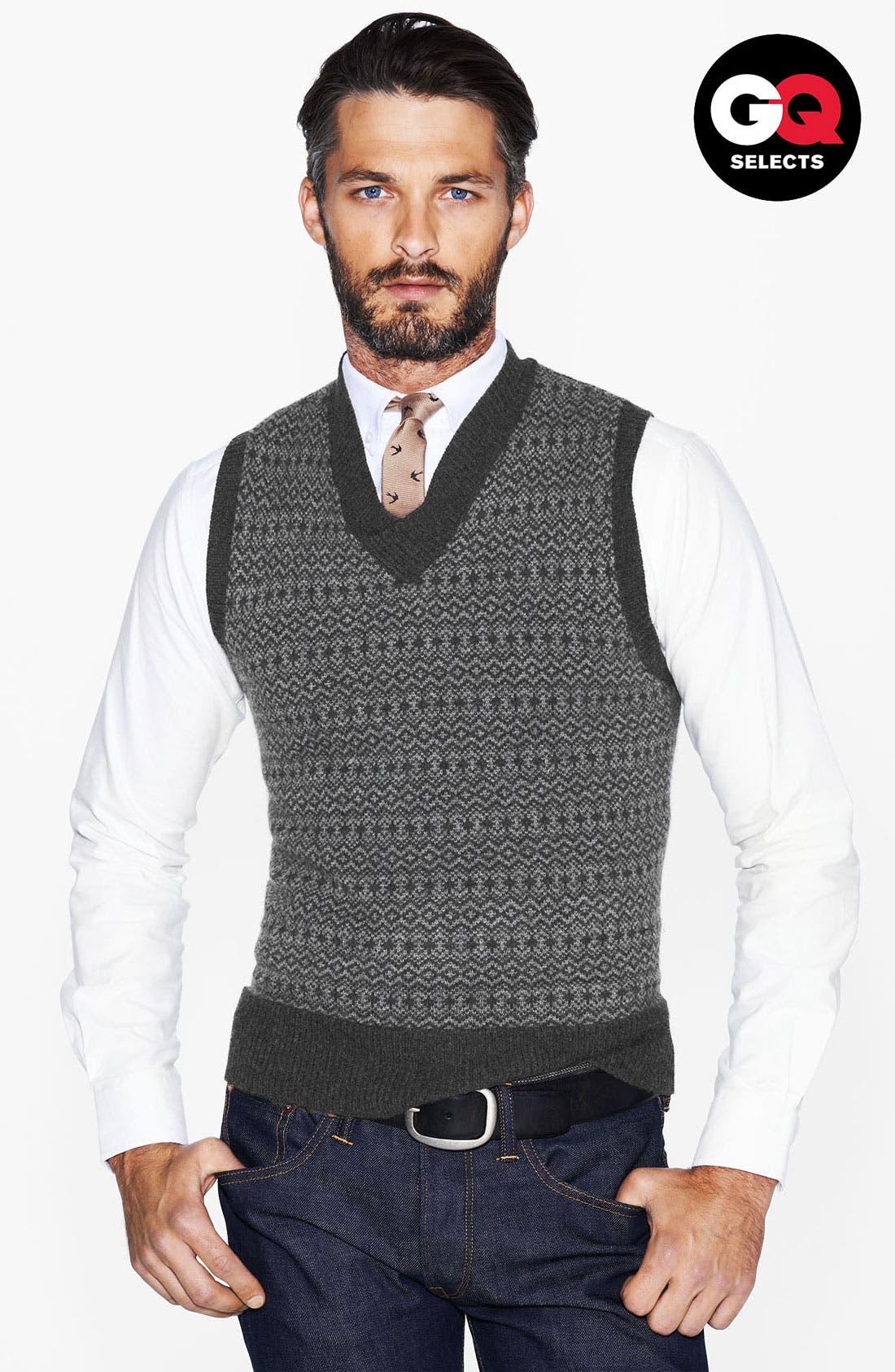 Alternate Image 1 Selected - Todd Snyder Sweater Vest