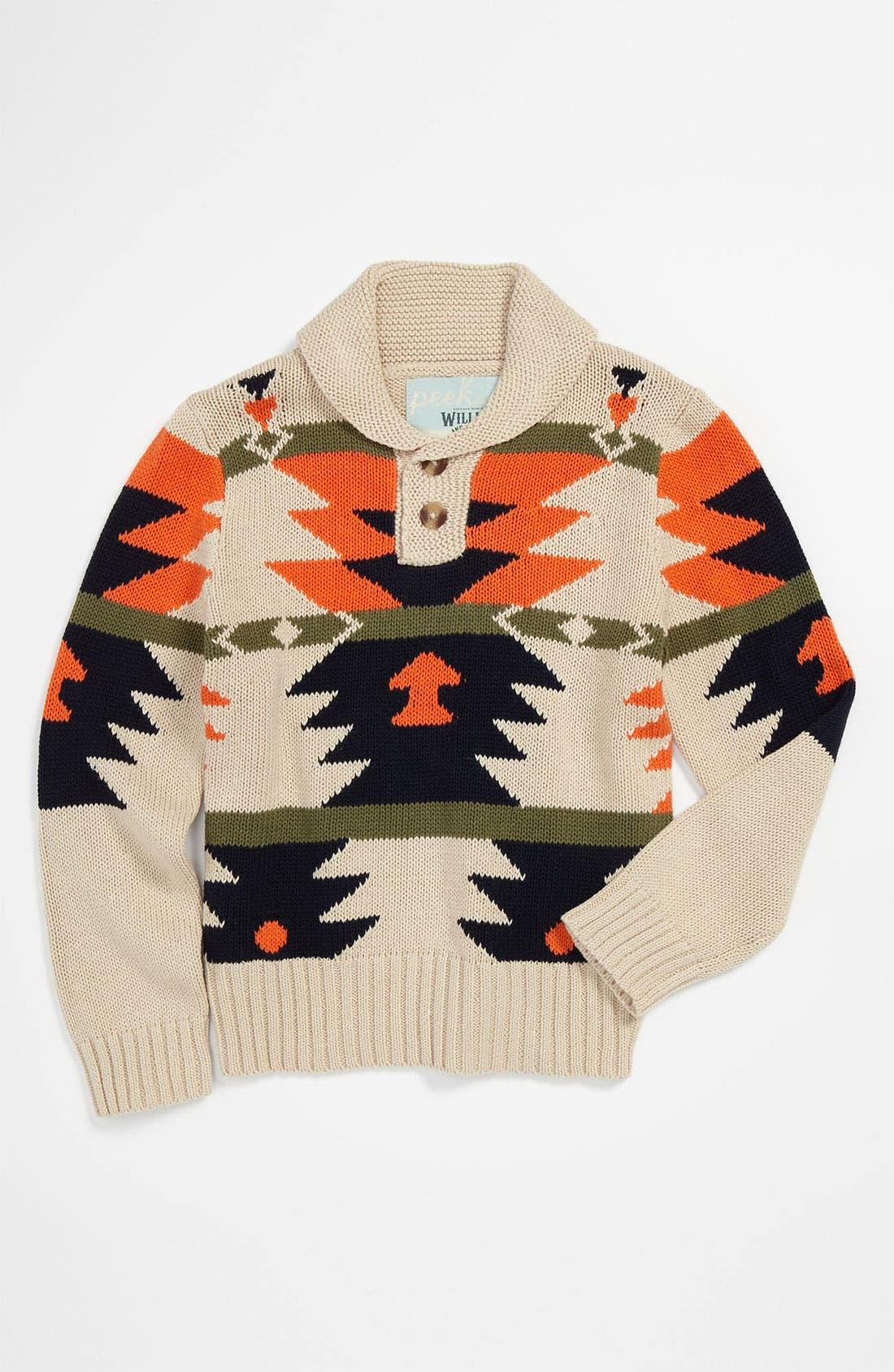 Main Image - Peek 'Arroyo' Shawl Collar Sweater (Toddler, Little Boys & Big Boys)