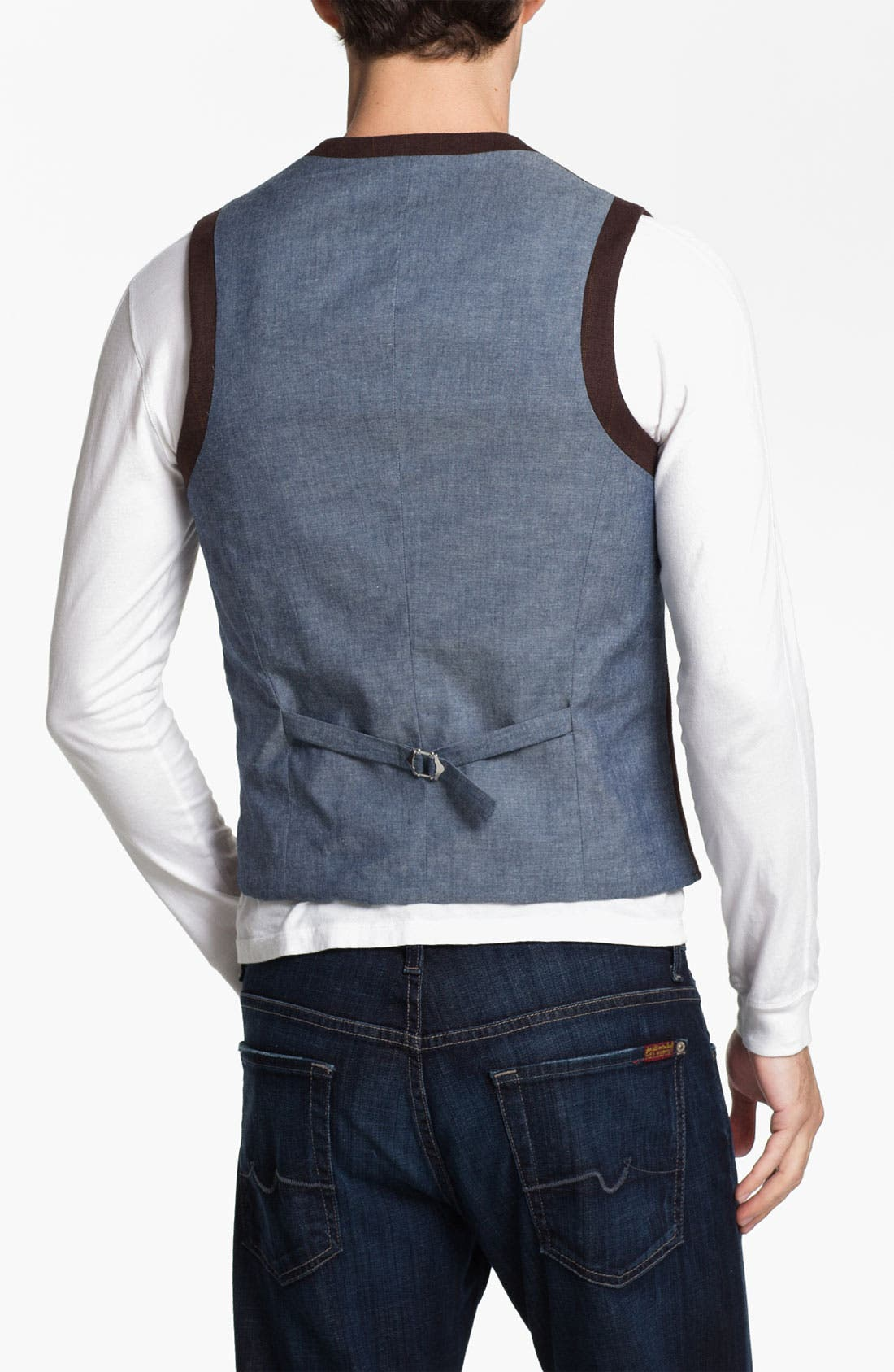 Alternate Image 2  - 1901 Cotton Vest