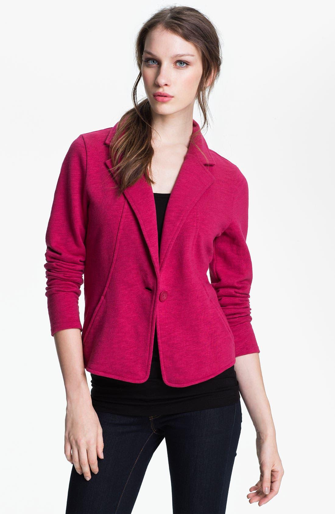 Main Image - Caslon® Three Quarter Sleeve Knit Blazer
