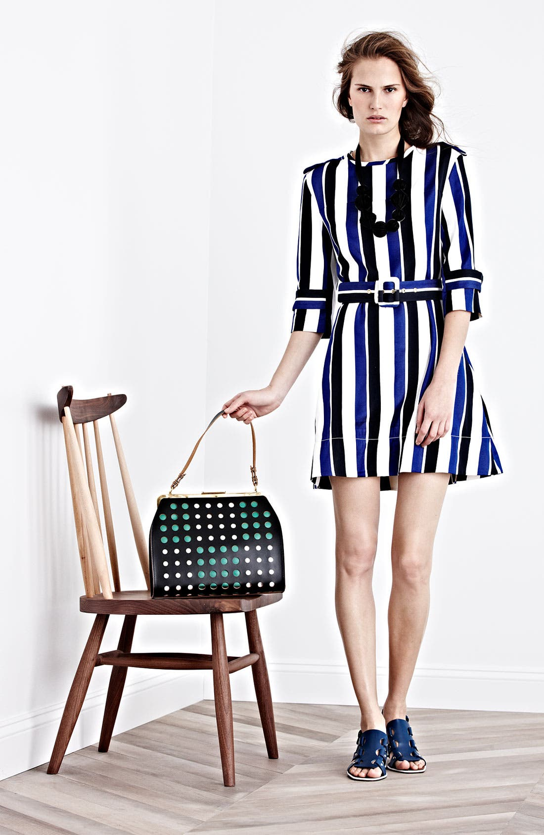 Alternate Image 5  - Marni Polka Dot Frame Handbag