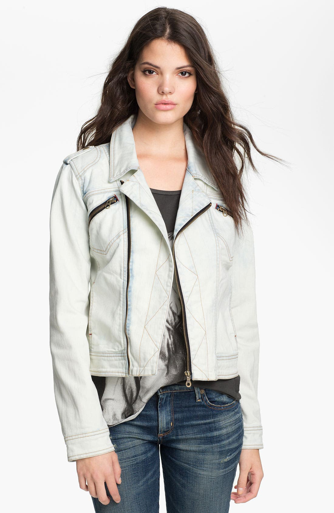 Main Image - Sanctuary 'Desert Rider' Denim Biker Jacket