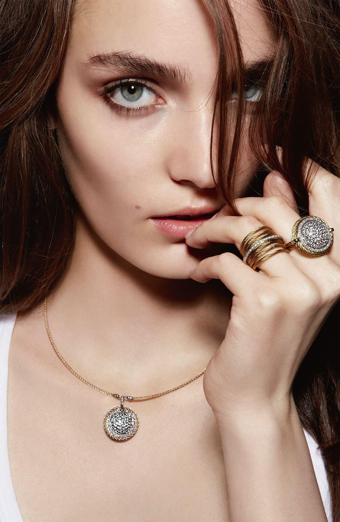 Alternate Image 2  - ALOR® Dome Sapphire & Diamond Pendant Necklace