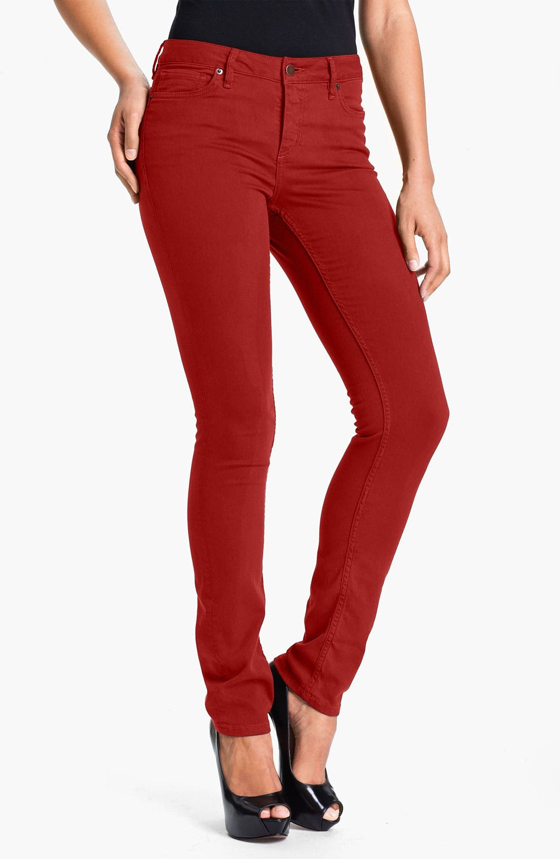 Alternate Image 1 Selected - Christopher Blue 'Sophia' Twill Skinny Jeans
