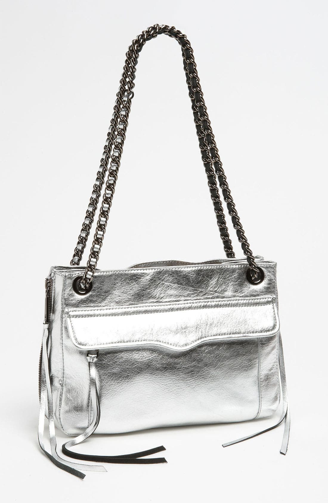 Main Image - Rebecca Minkoff 'Swing' Metallic Leather Shoulder Bag