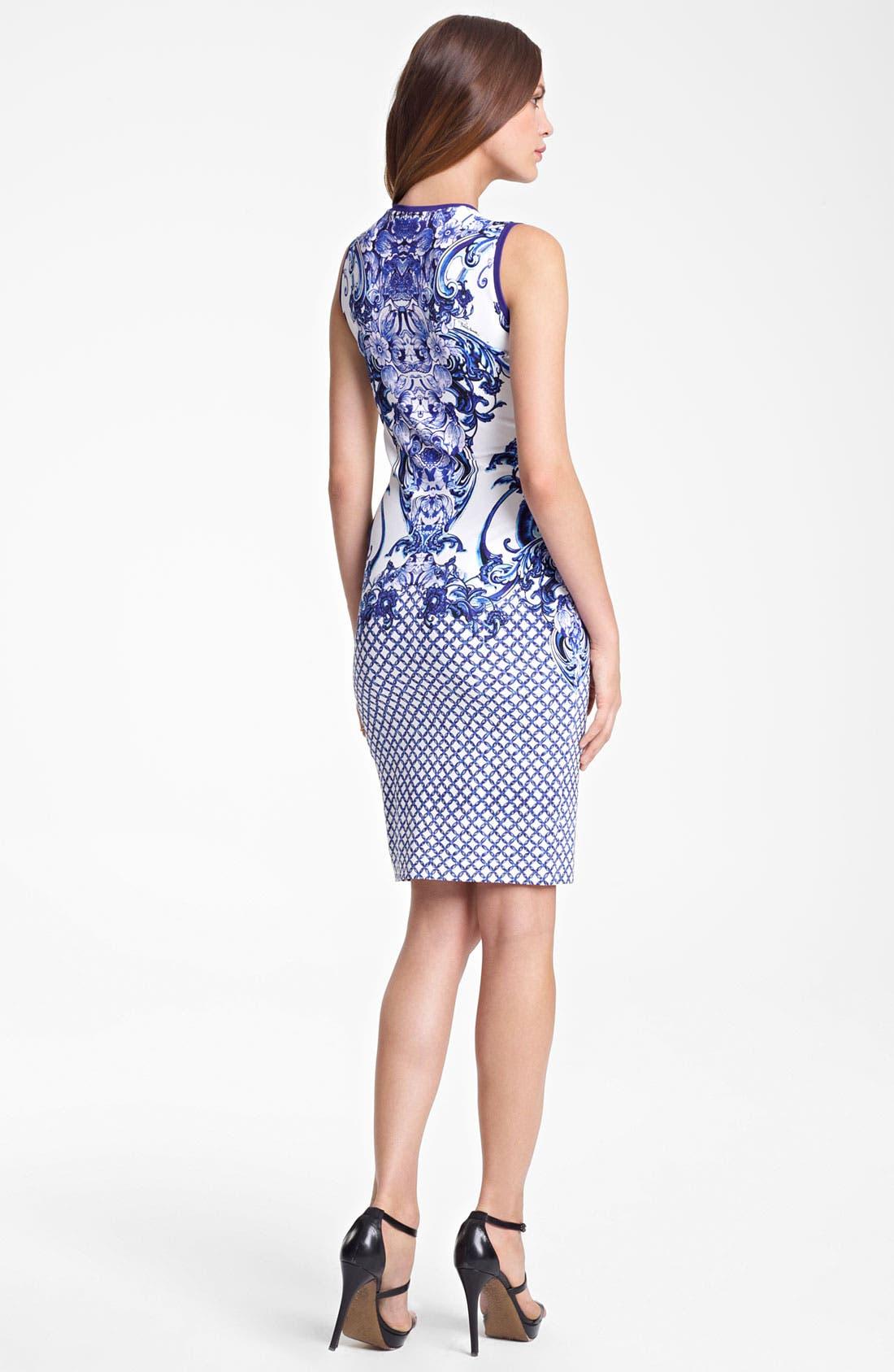 Alternate Image 2  - Roberto Cavalli Print Punto Milano Dress