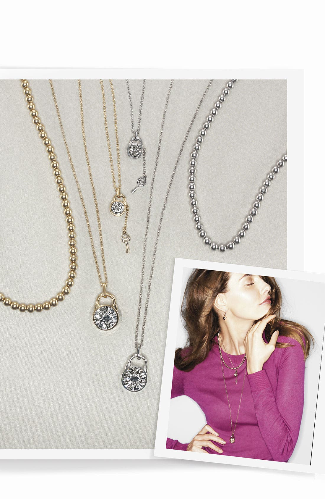 Alternate Image 2  - Michael Kors 'Brilliance' Pendant Necklace