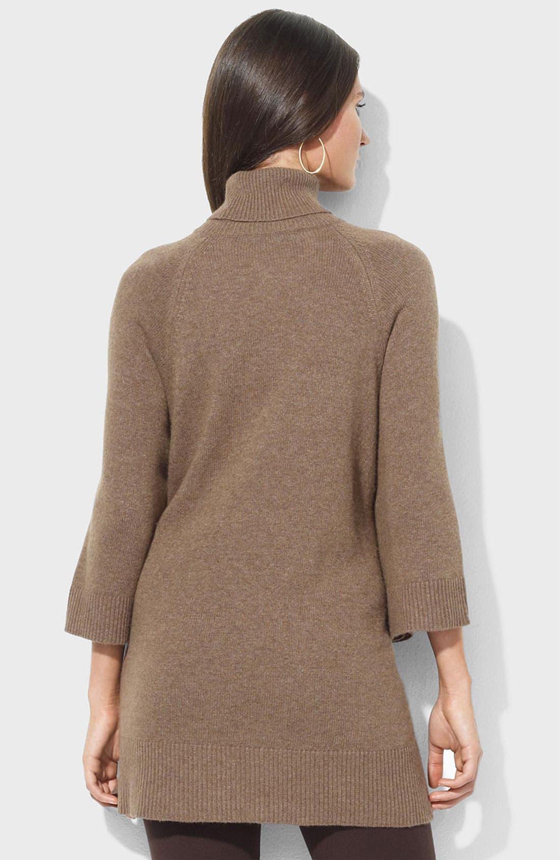 Alternate Image 2  - Lauren Ralph Lauren Oversized Turtleneck Sweater (Petite)