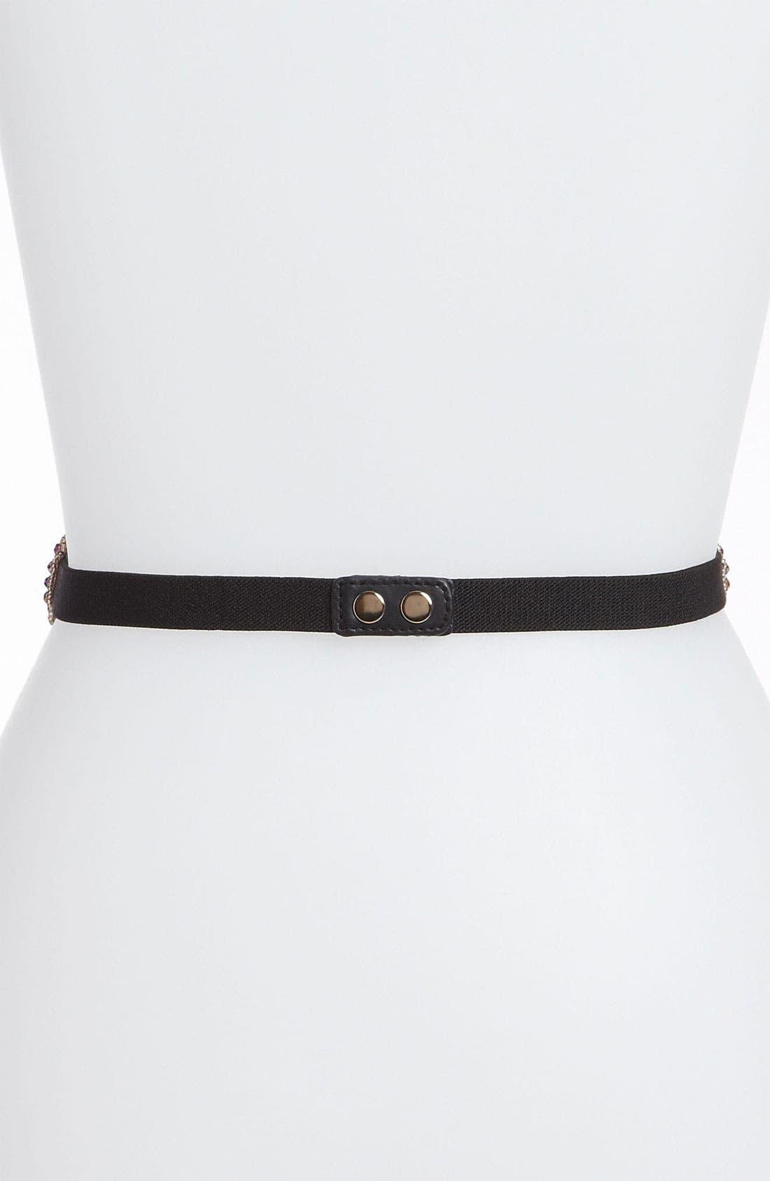 Alternate Image 2  - Halogen® Beaded Stretch Belt