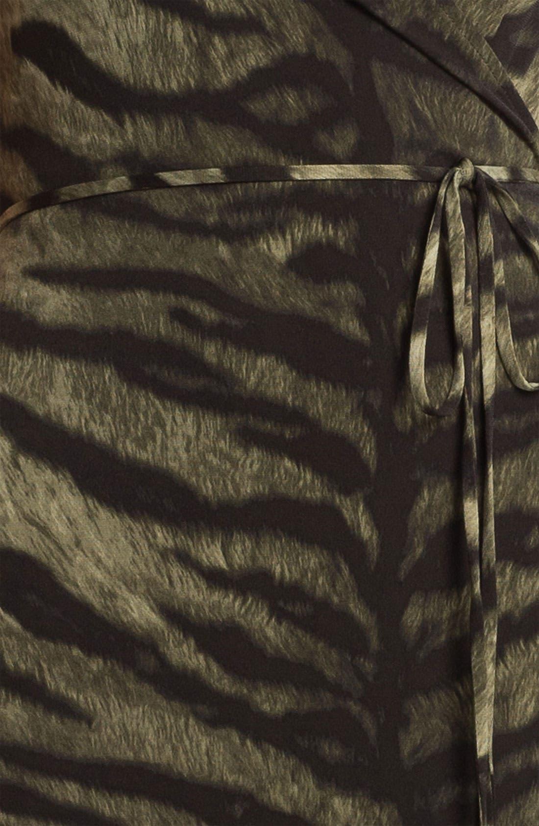 Alternate Image 3  - MICHAEL Michael Kors Tiger Print Wrap Dress