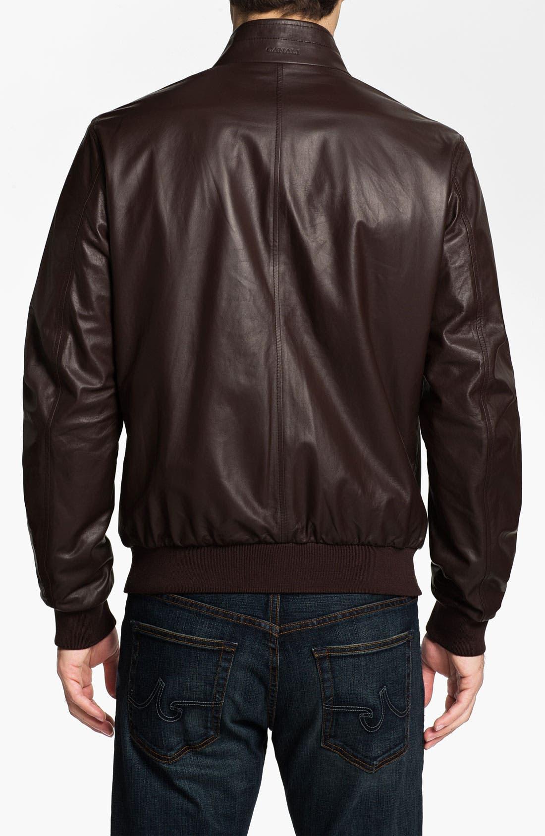 Alternate Image 2  - Canali Reversible Leather Jacket
