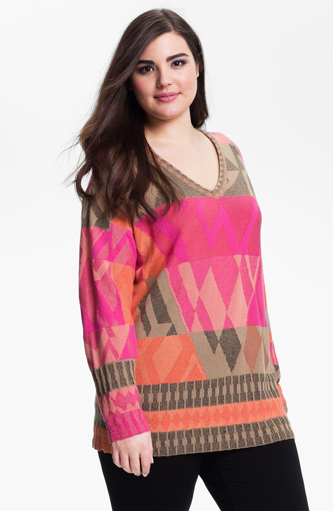 Alternate Image 1 Selected - Nic + Zoe 'Coral Reef' Sweater (Plus)