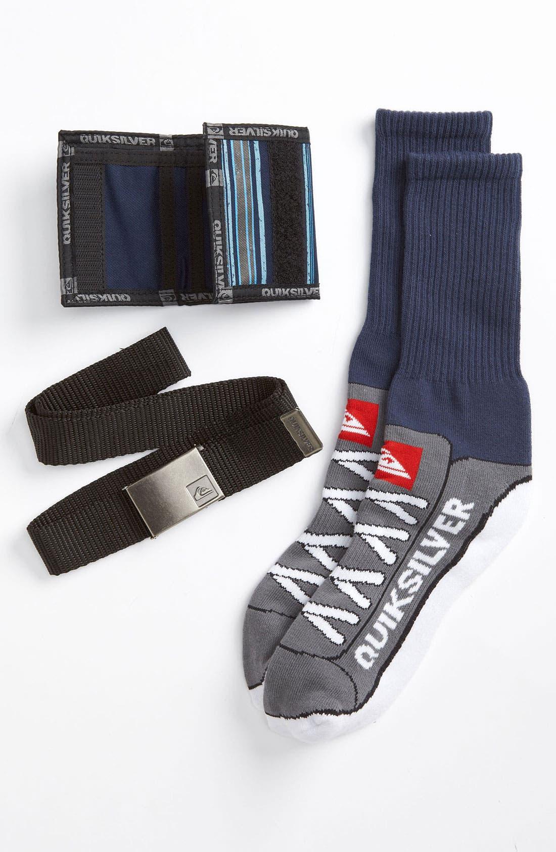 Alternate Image 1 Selected - Quiksilver Belt, Wallet & Socks Gift Pack (Big Boys)