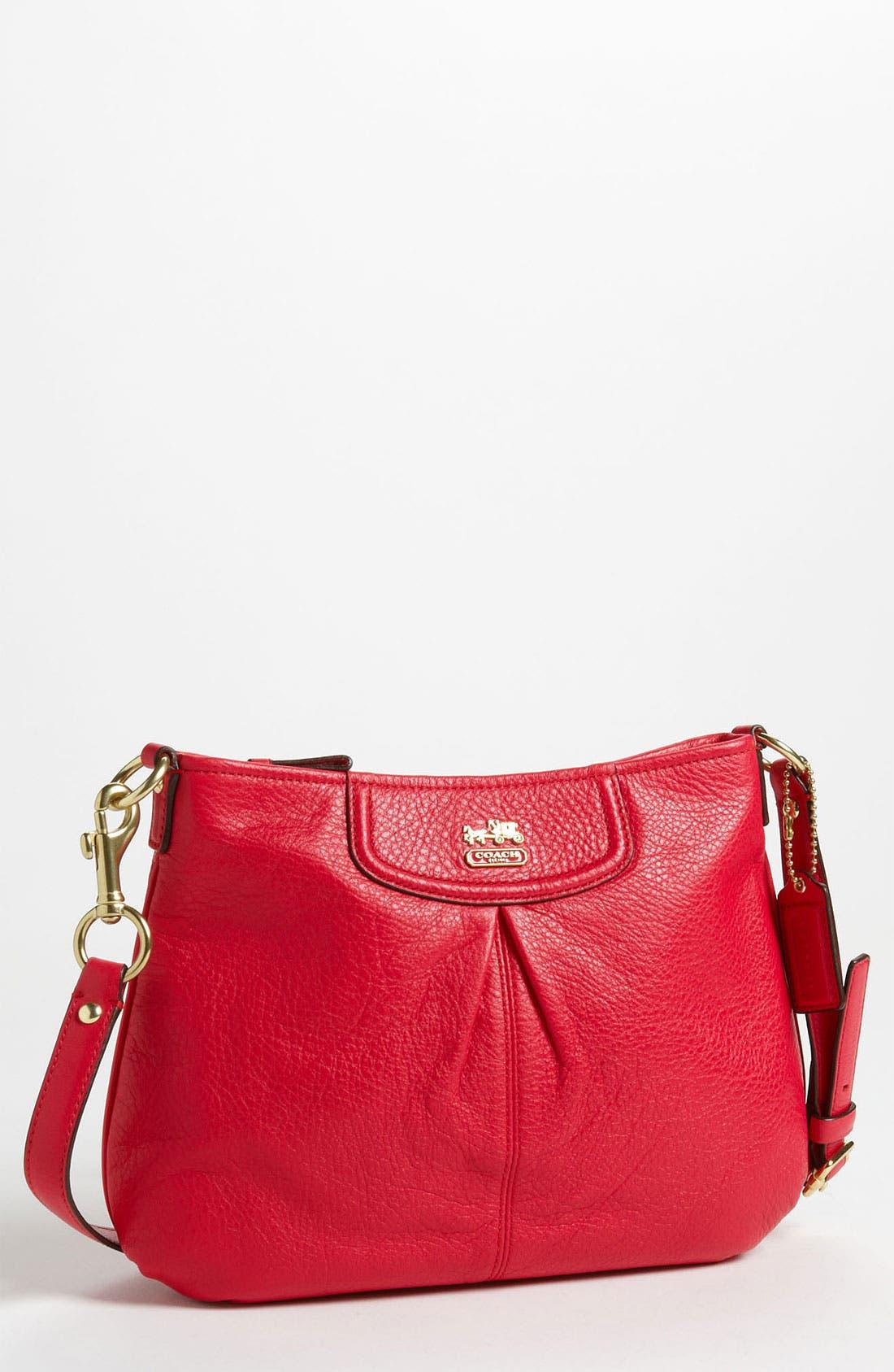 Main Image - COACH 'Madison - Swingpack' Leather Crossbody Bag