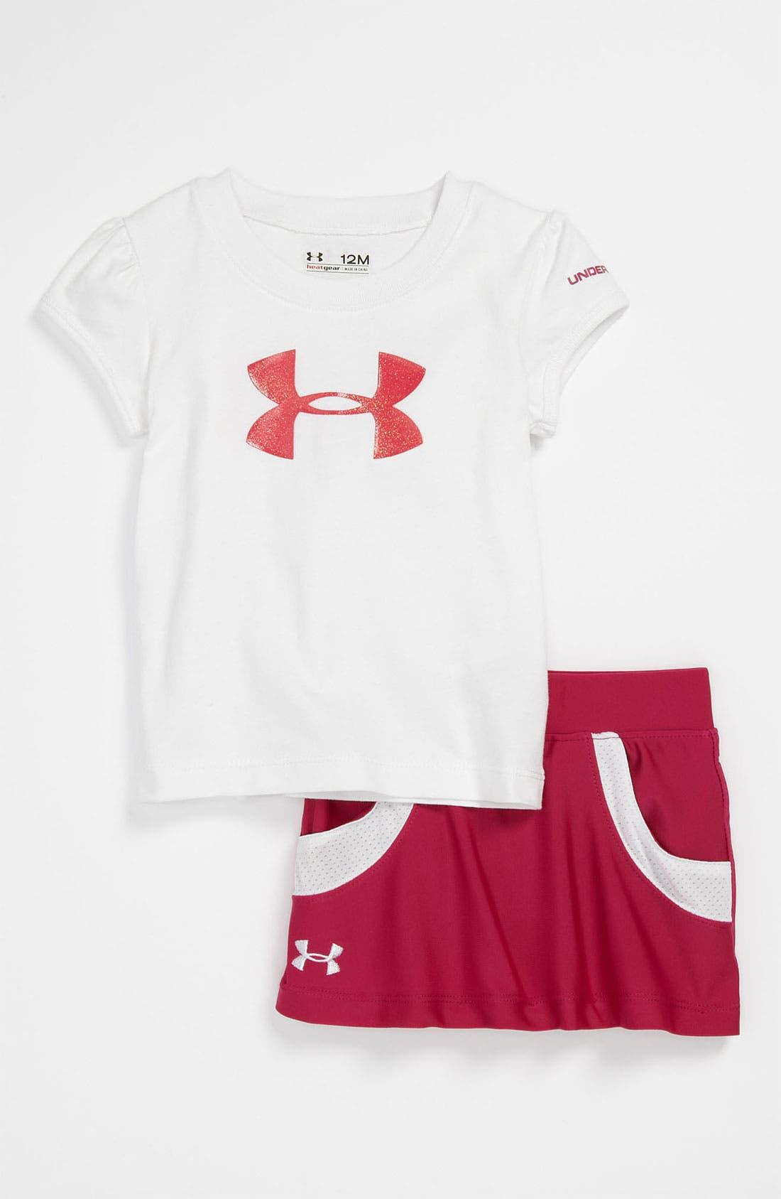 Alternate Image 1 Selected - Under Armour Shirt & Skirt (Infant)