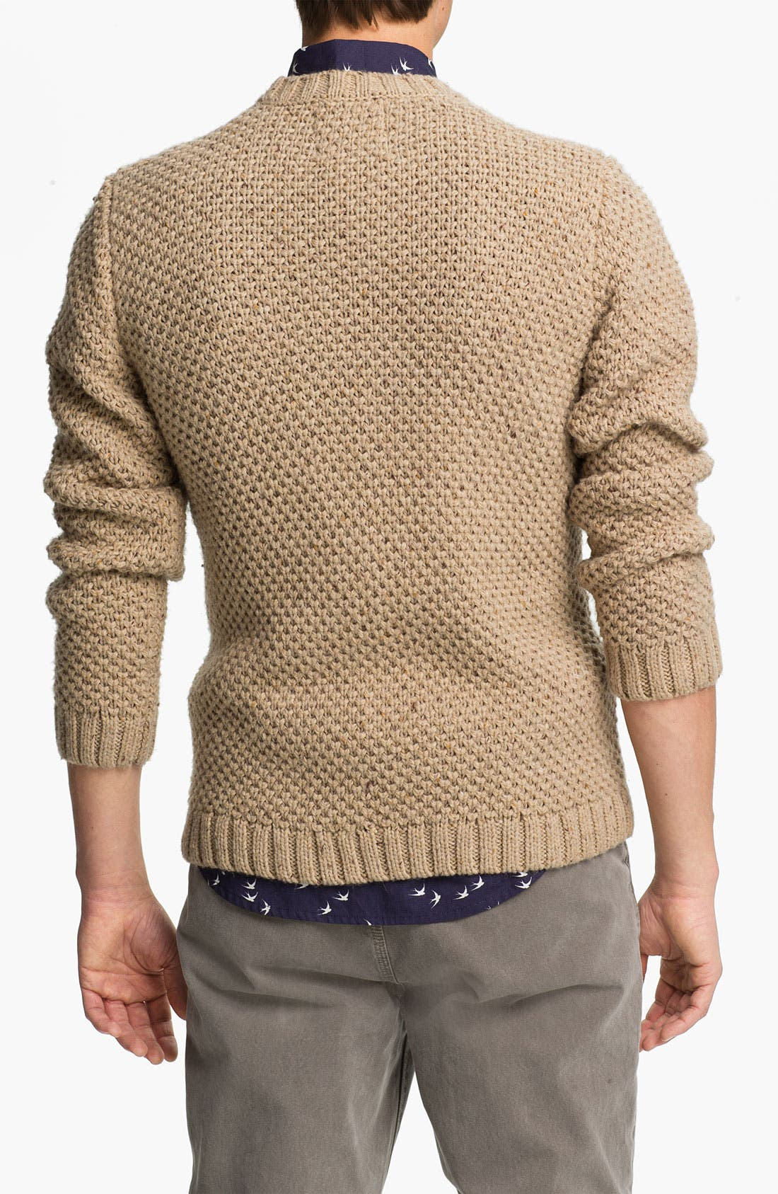 Alternate Image 2  - Topman Chunky Cable Knit Crewneck Sweater