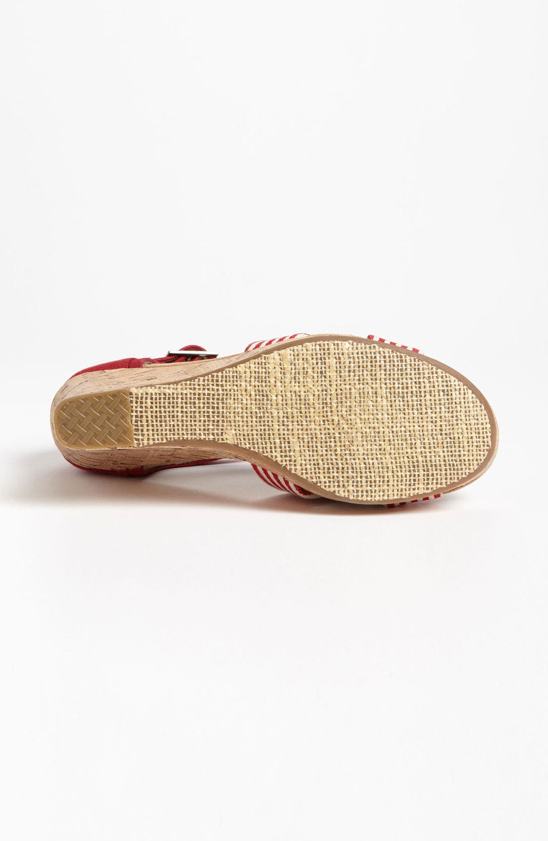 Alternate Image 4  - TOMS 'University Stripe' Wedge Sandal
