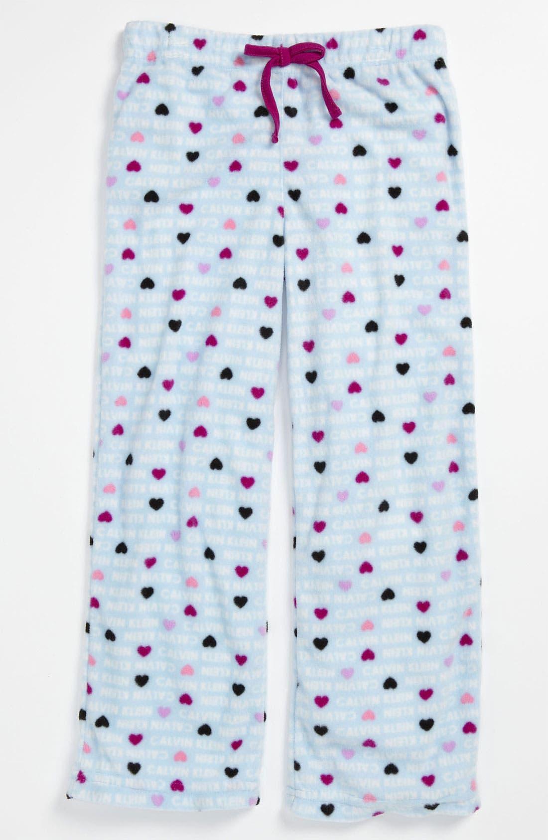 Alternate Image 1 Selected - Calvin Klein Pajama Pants (Little Girls & Big Girls)