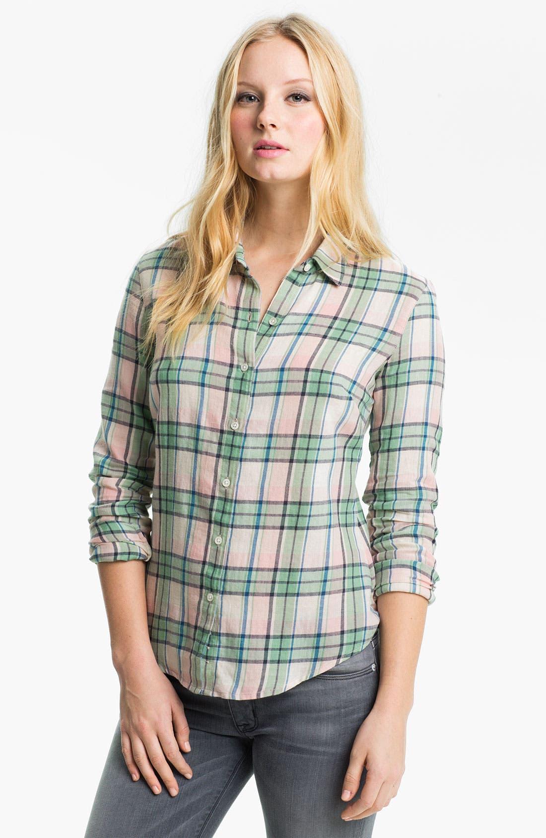 Alternate Image 1 Selected - James Perse 'Sail' Plaid Shirt