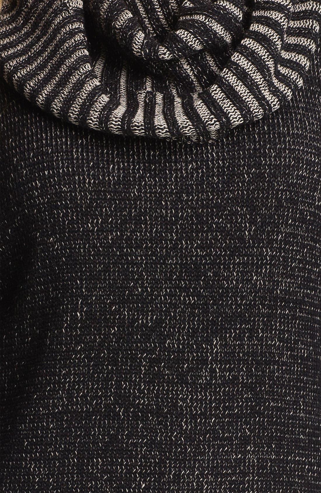 Alternate Image 3  - Fever Cowl Neck Three Quarter Sleeve Sweater (Online Exclusive)