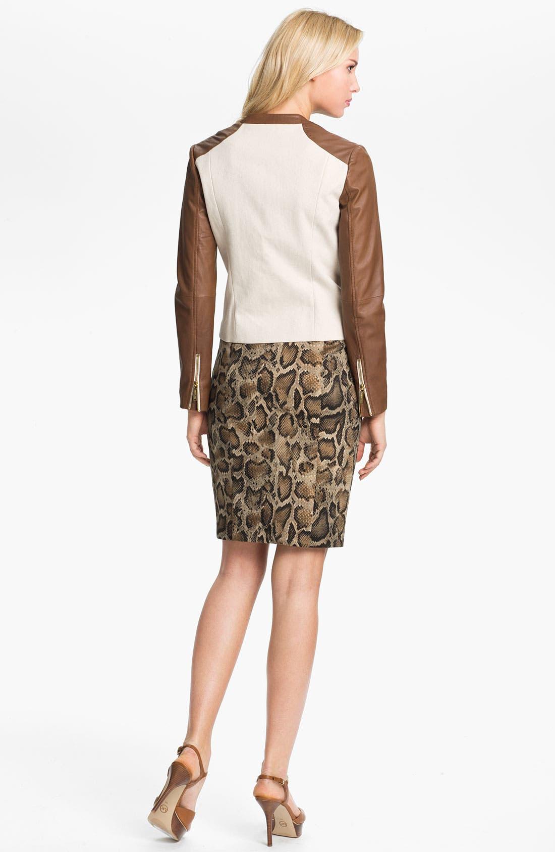 Alternate Image 5  - MICHAEL Michael Kors 'Mamba' Snake Print Pencil Skirt