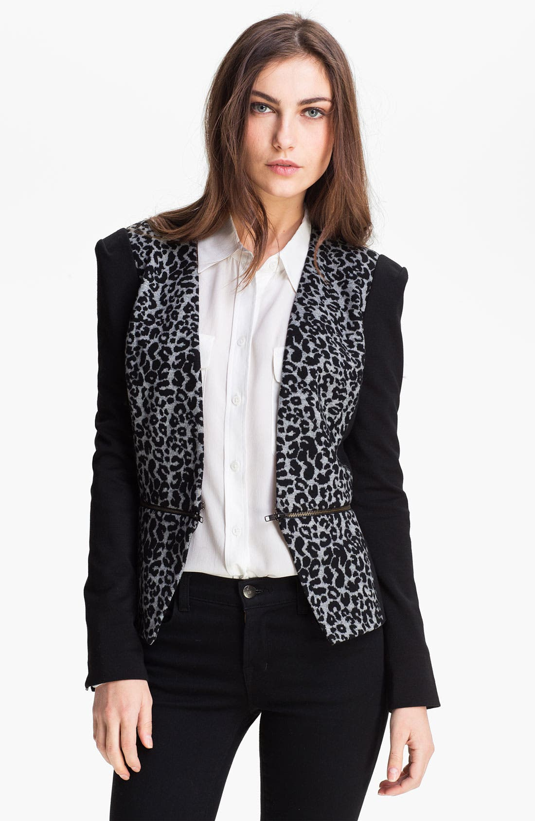 Alternate Image 1 Selected - Rebecca Taylor Convertible Knit Blazer