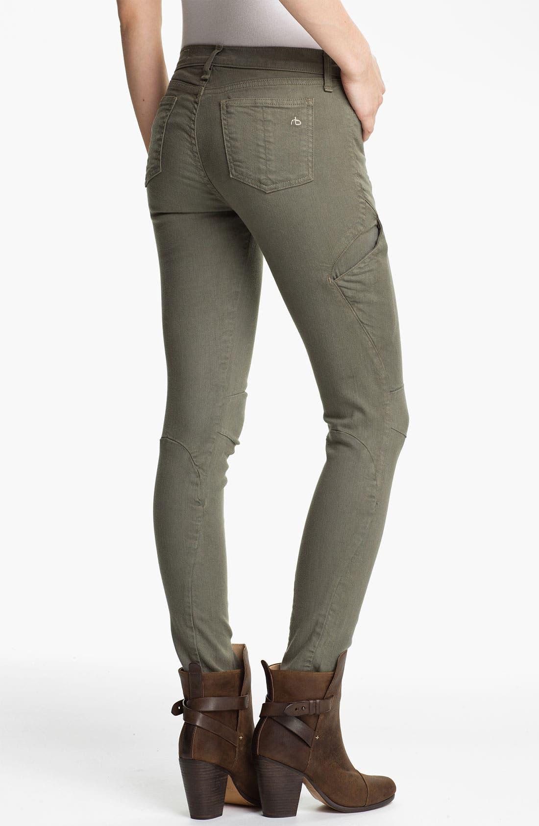 Alternate Image 2  - rag & bone 'Rally' Cargo Skinny Jeans