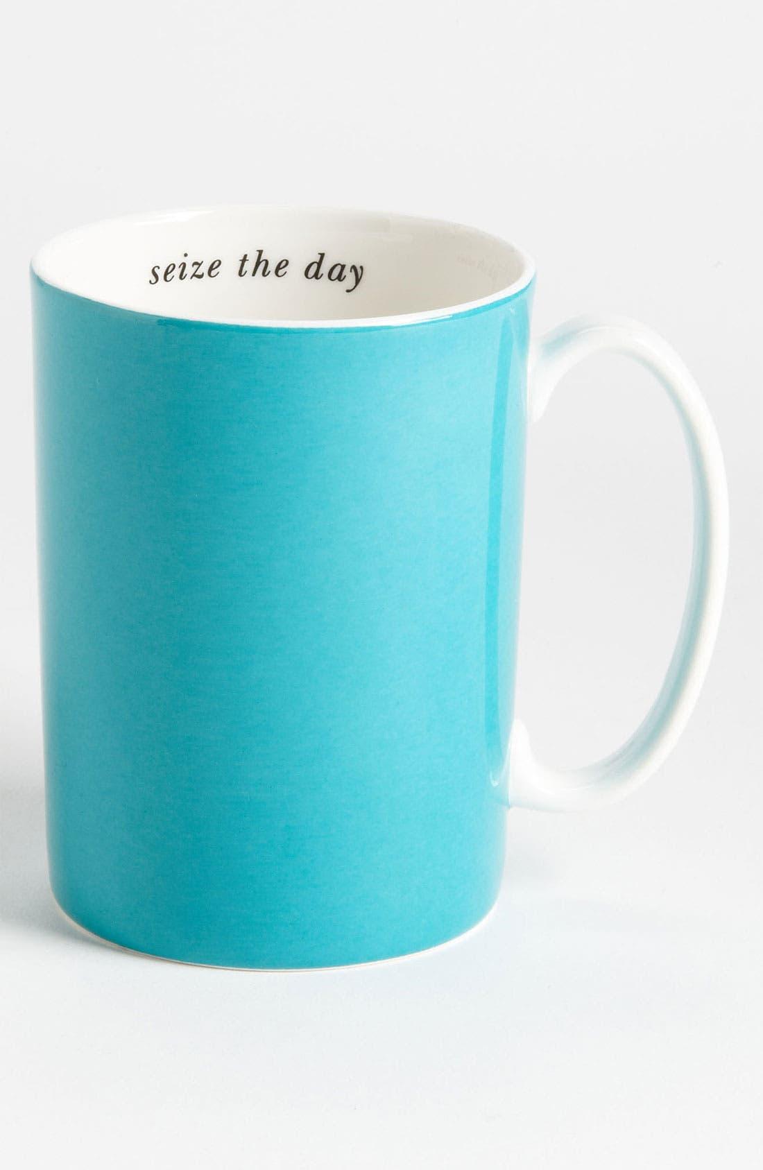 Main Image - kate spade new york 'say the word - seize the day' porcelain mug