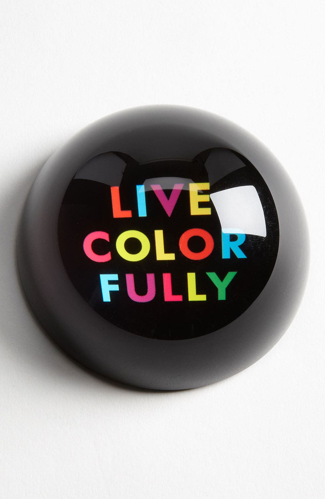 Alternate Image 1 Selected - kate spade new york 'say the word - live colorfully' paperweight