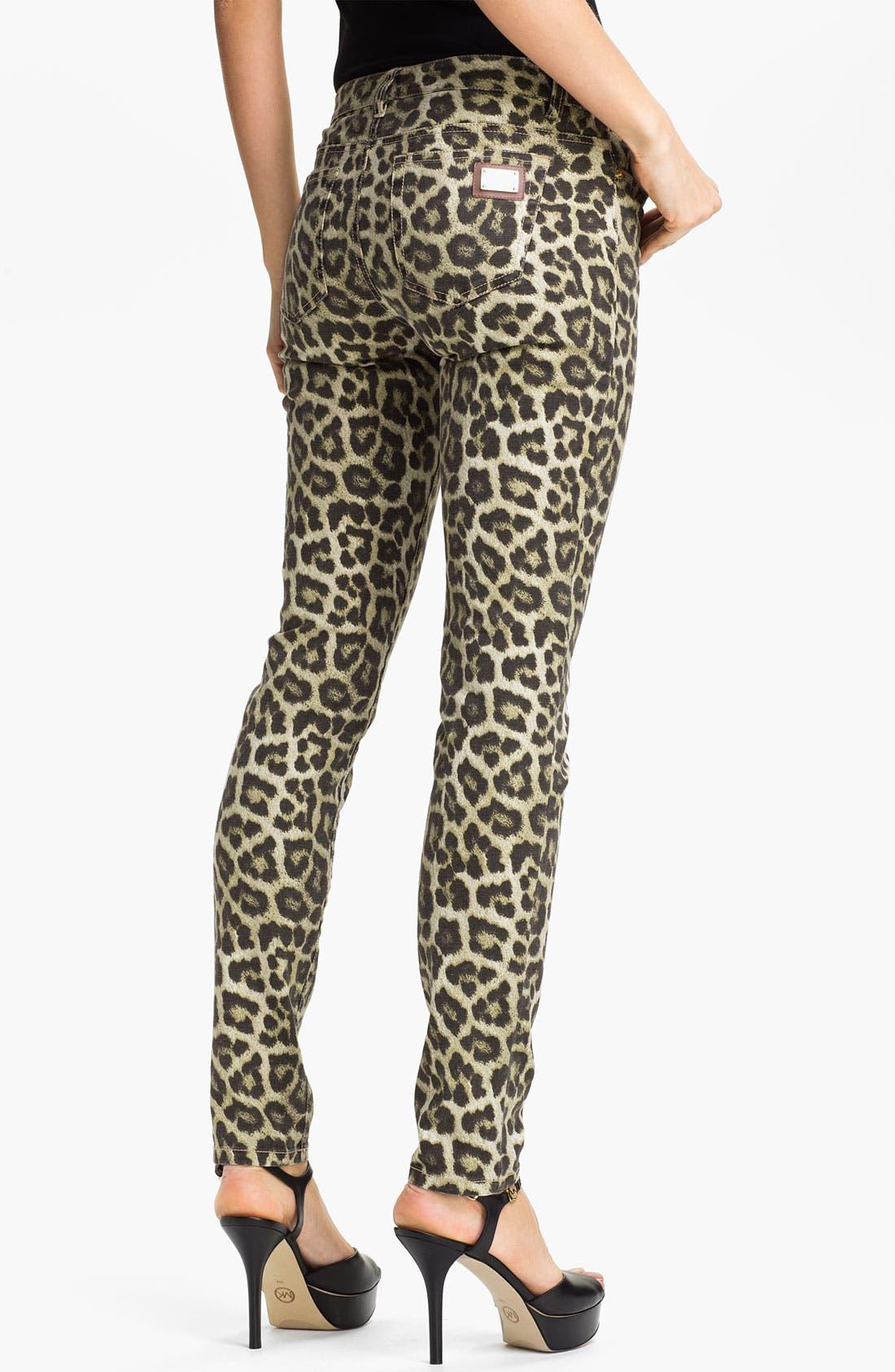 Alternate Image 2  - MICHAEL Michael Kors 'Savannah' Leopard Print Skinny Jeans