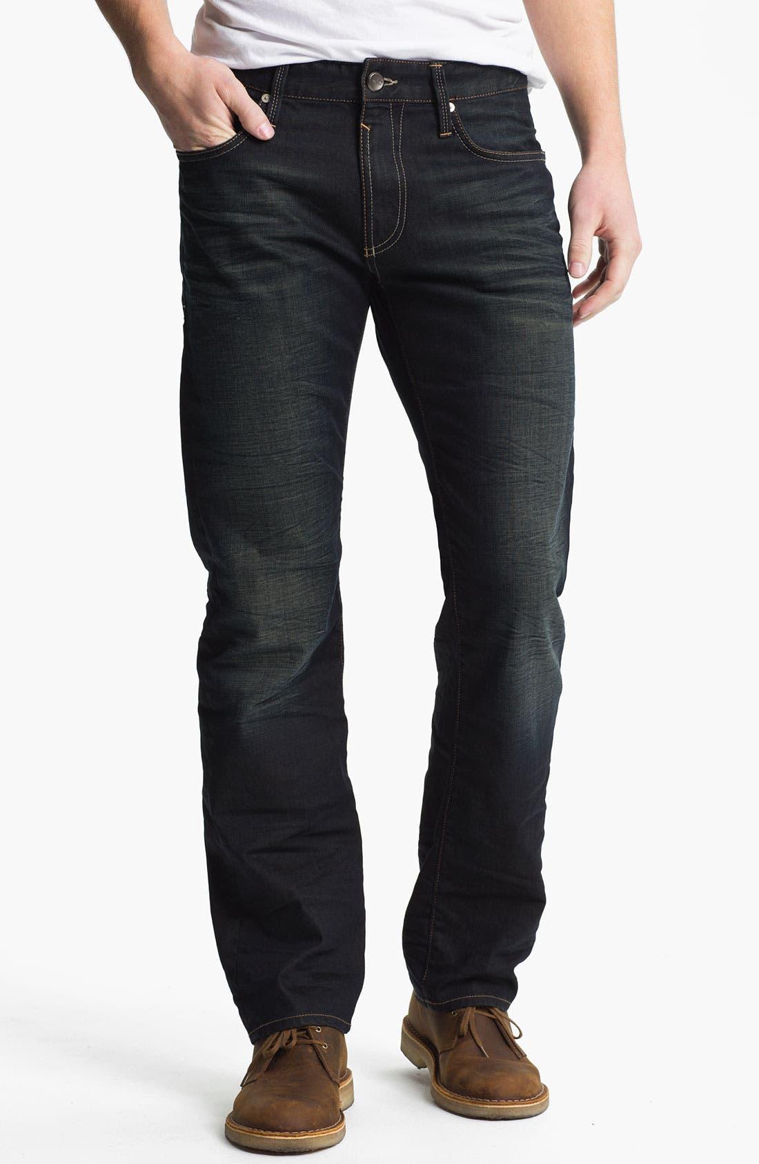 Alternate Image 2  - Mavi Jeans 'Zach' Straight Leg Jeans (Smoke White Edge)