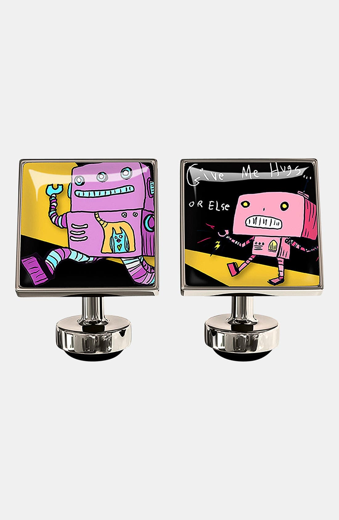 Alternate Image 1 Selected - Würkin Stiffs 'Hug Me Robot' Square Cuff Links