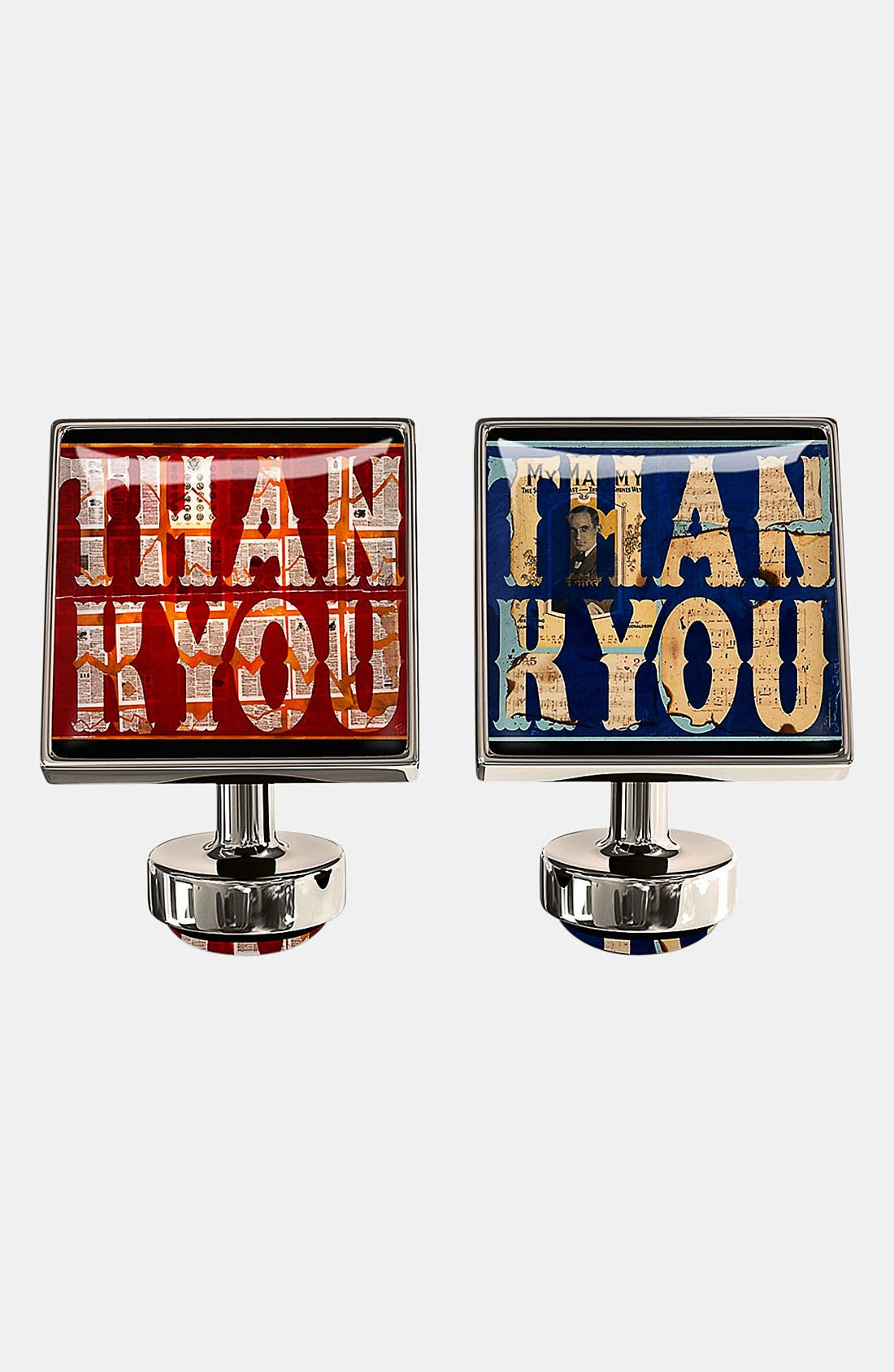 Alternate Image 1 Selected - Würkin Stiffs 'Thank You' Square Cuff Links