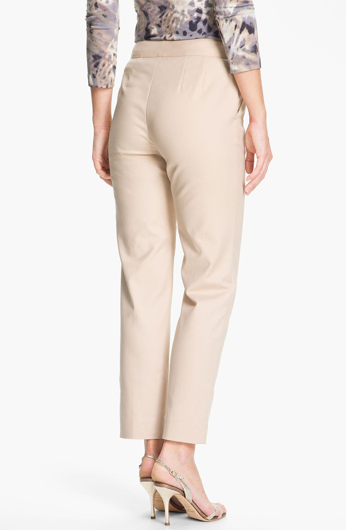 Alternate Image 2  - St. John Collection 'Emma' Stretch Cotton Crop Pants
