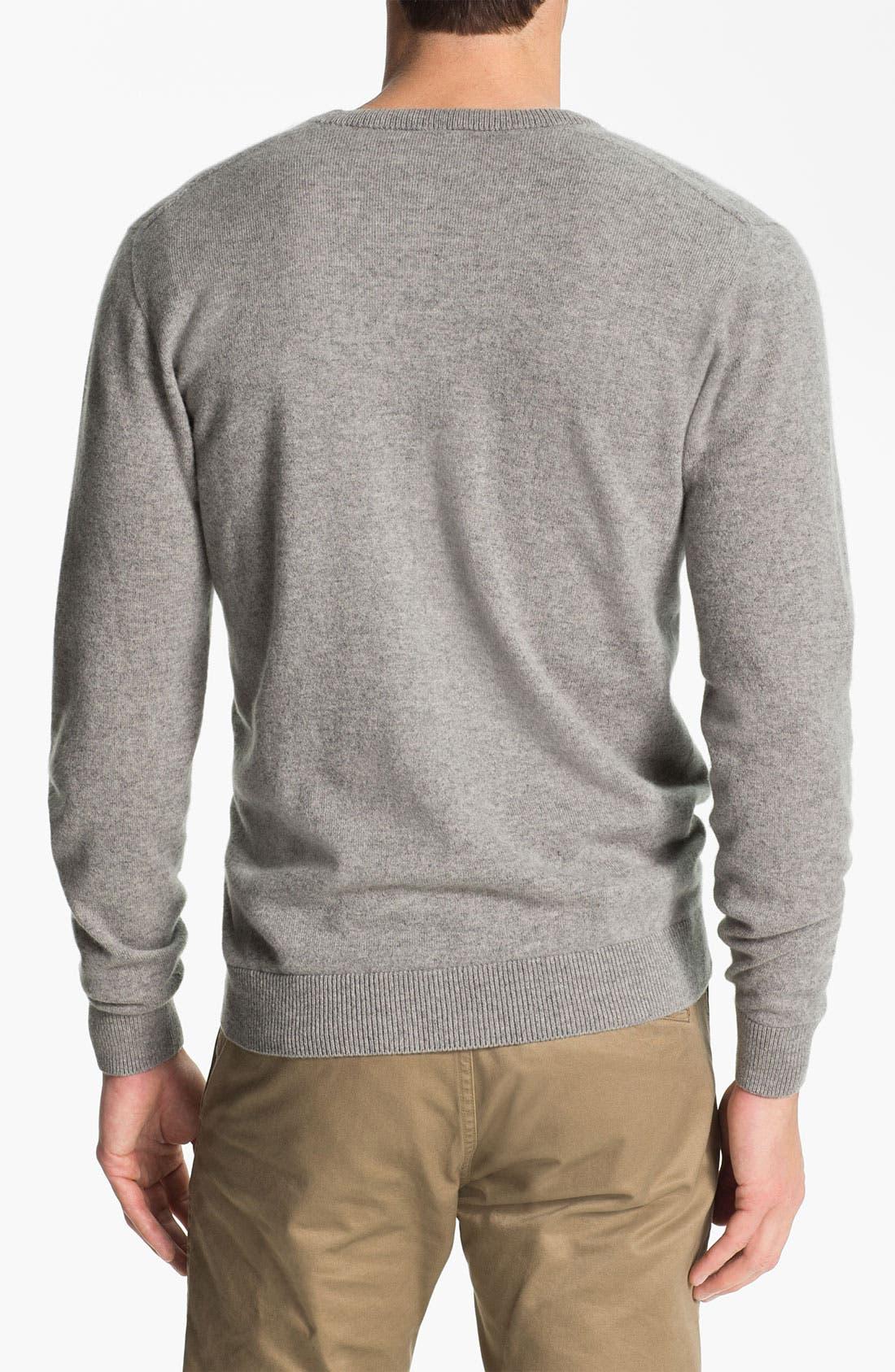 Alternate Image 2  - Lacoste 'Noel' V-Neck Cashmere Sweater