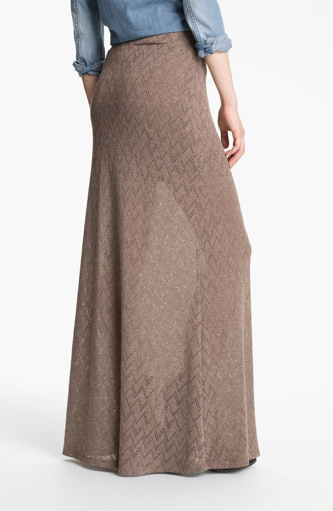 Alternate Image 2  - Lily White Knit Maxi Skirt (Juniors)