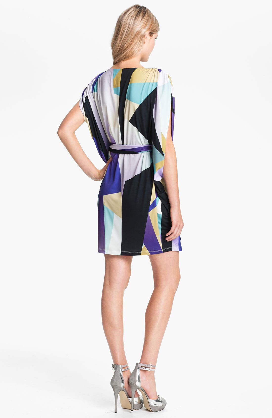 Alternate Image 2  - Suzi Chin for Maggy Boutique Dolman Sleeve Print Dress