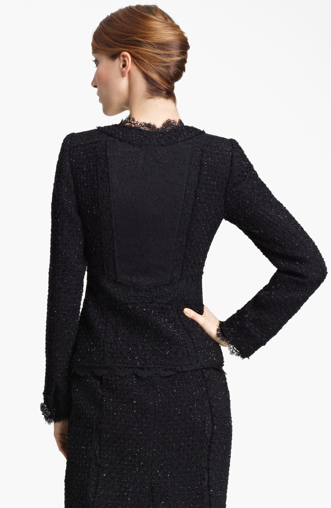 Alternate Image 3  - Oscar de la Renta Lace & Tweed Jacket