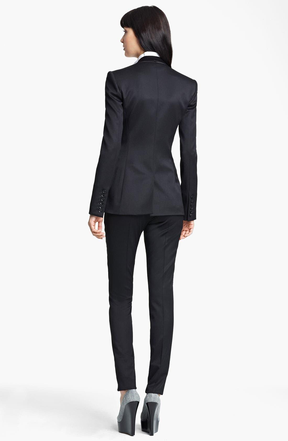Alternate Image 3  - Burberry Prorsum Stretch Wool Tuxedo Jacket