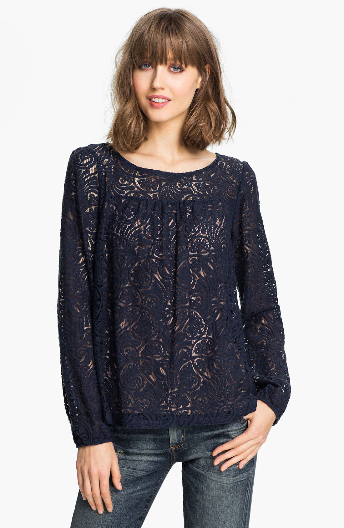 Alternate Image 1 Selected - Ella Moss 'Hannah' Lace Blouse