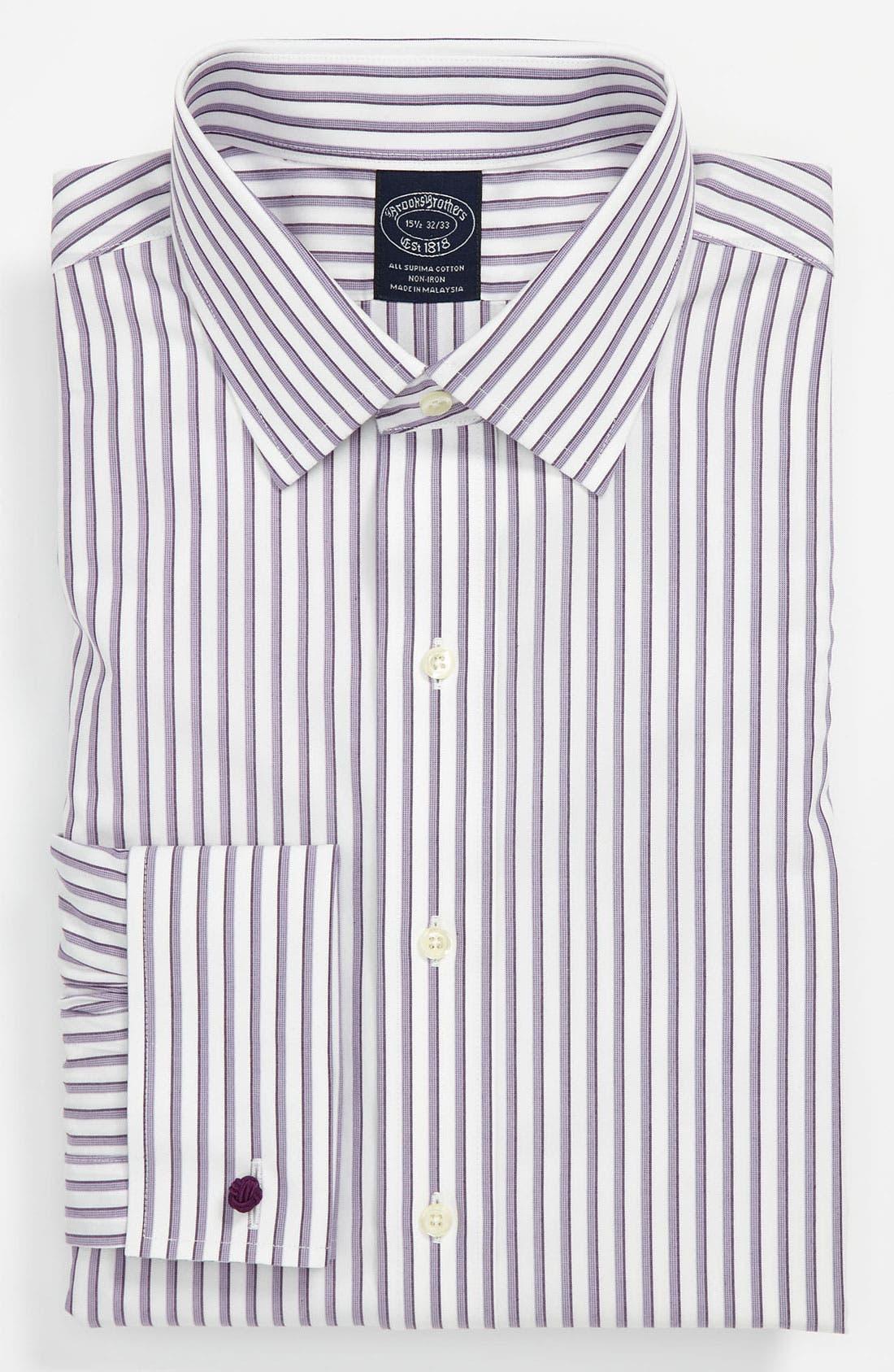 Alternate Image 1 Selected - Brooks Brothers Regular Fit Non-Iron Dress Shirt