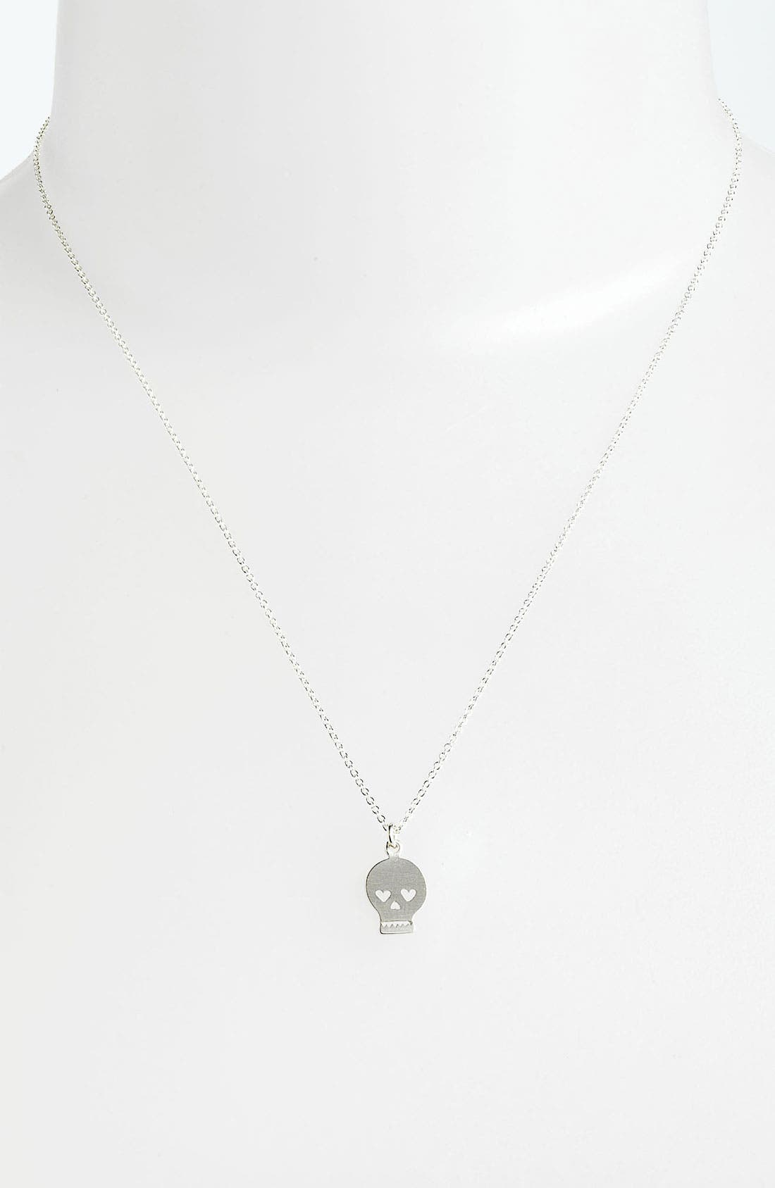 Alternate Image 2  - Dogeared 'You Put a Spell on Me' Skull Pendant Necklace