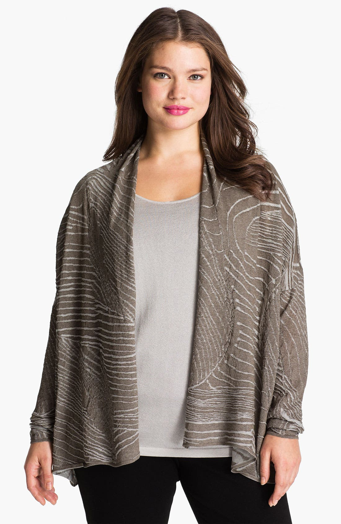 Alternate Image 1 Selected - Lafayette 148 New York Drape Front Jacquard Cardigan