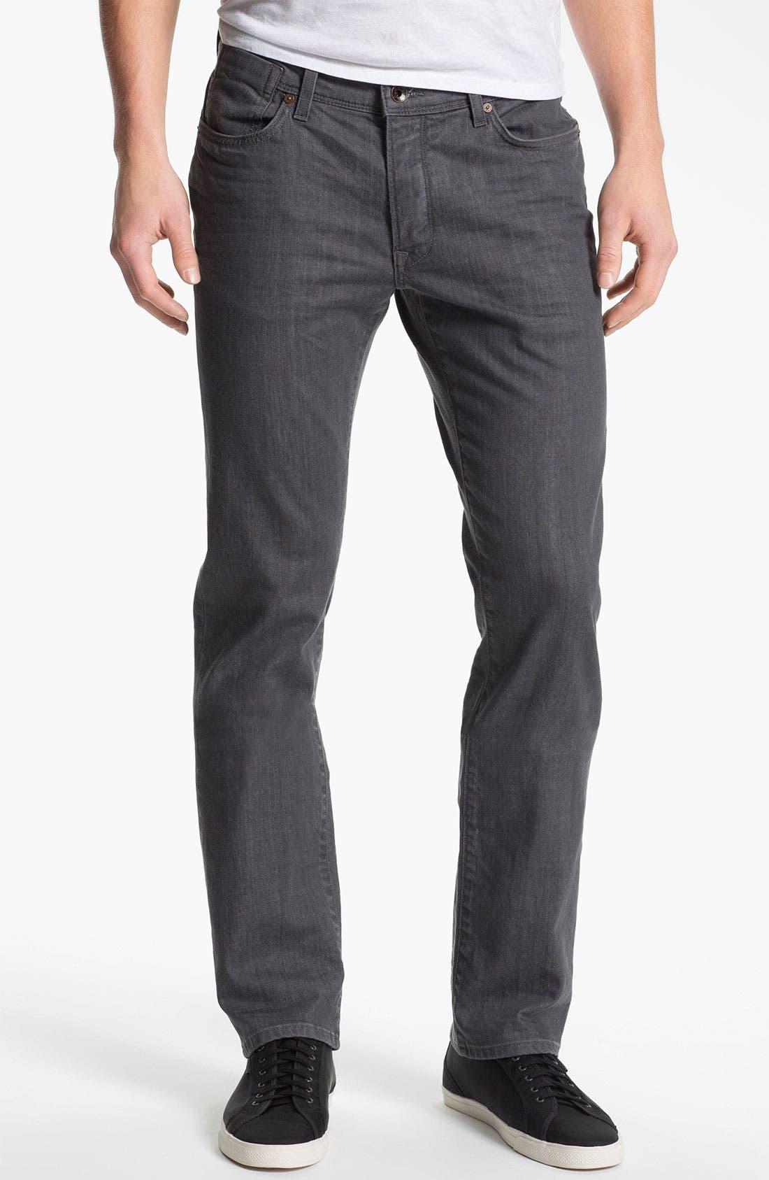 Main Image - John Varvatos Star USA 'Bowery' Slim Straight Leg Jeans (Steel Grey)