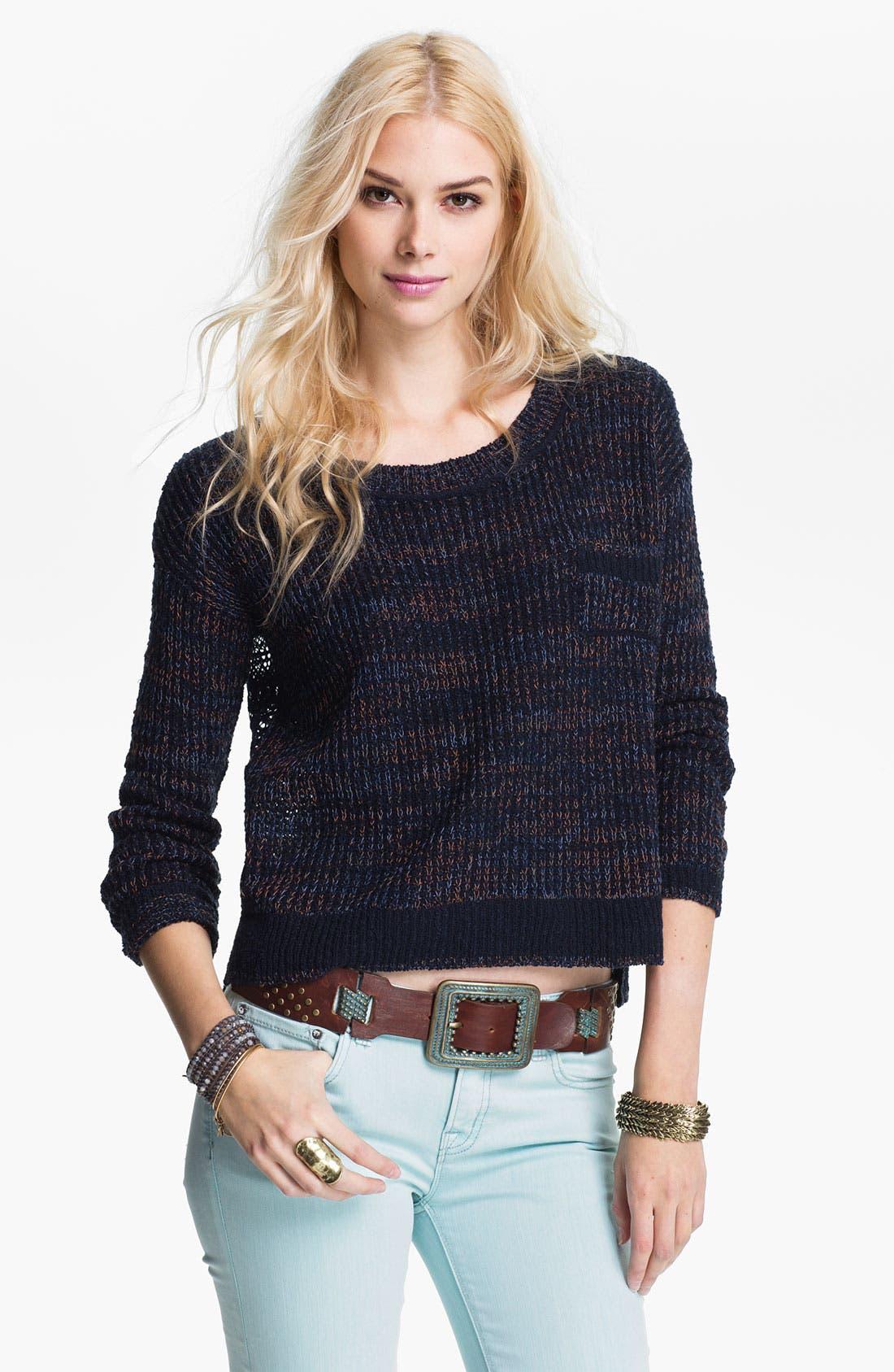 Main Image - Free People 'Sweet Jane' Lace Back Sweater