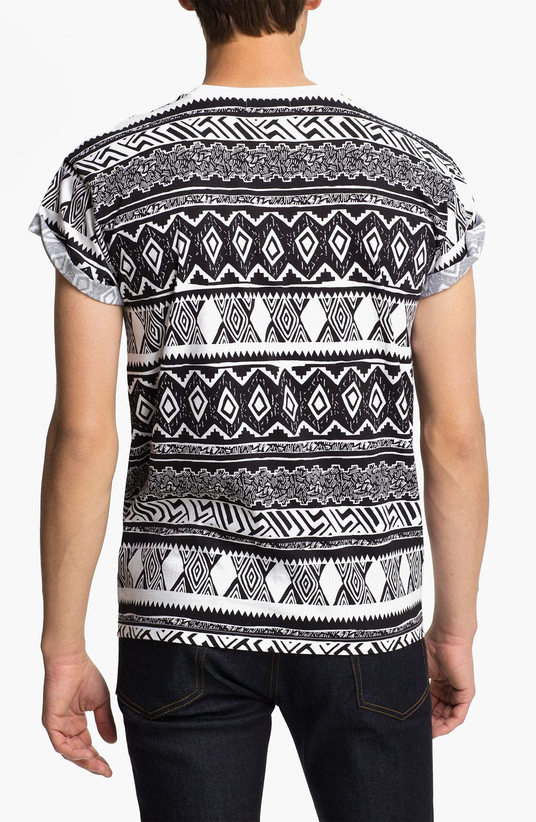 Alternate Image 2  - Topman 'High Roller' All Over Pattern Print T-Shirt