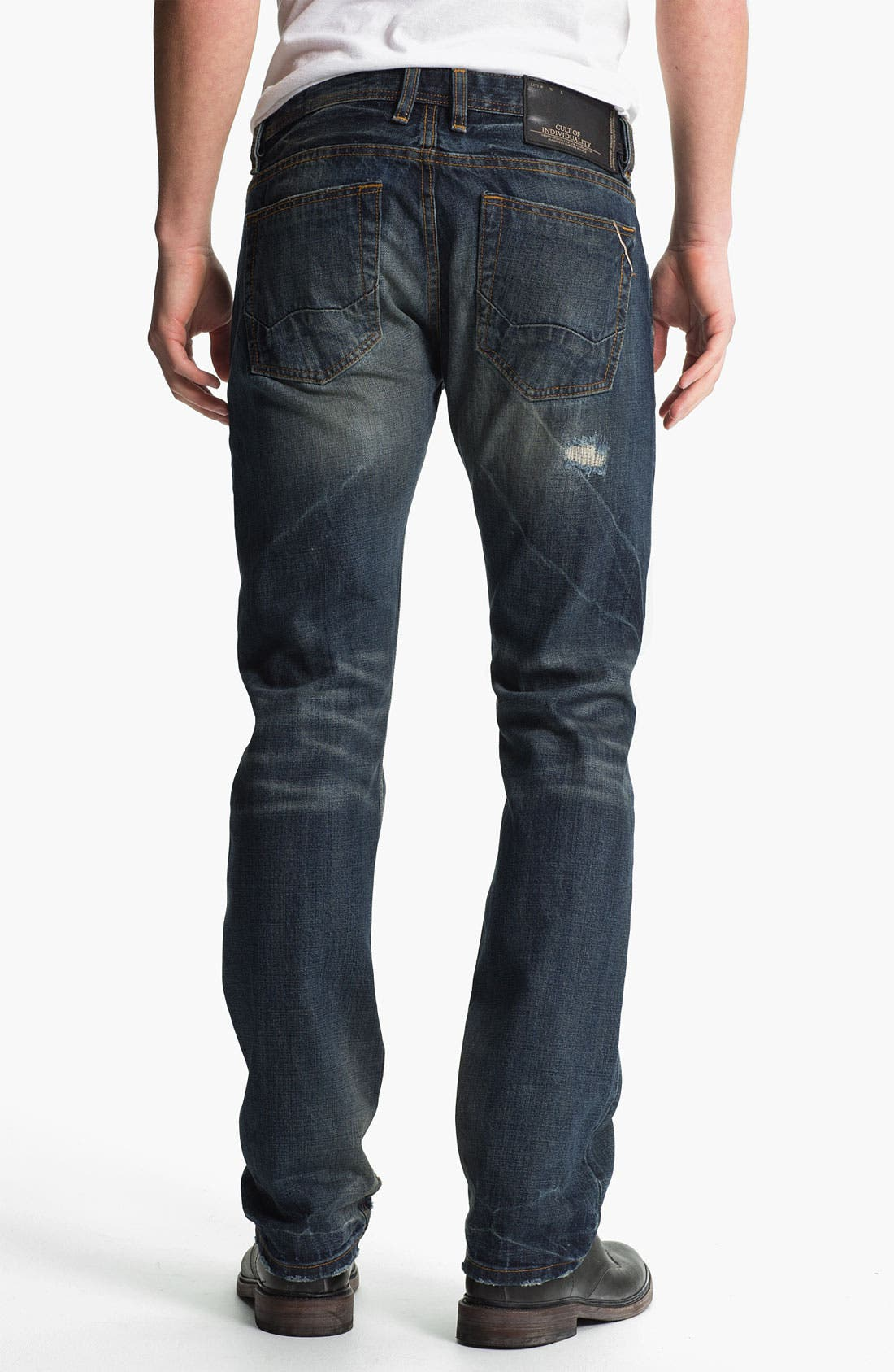 Alternate Image 1 Selected - Cult of Individuality 'Rebel' Straight Leg Jeans (Greaser)