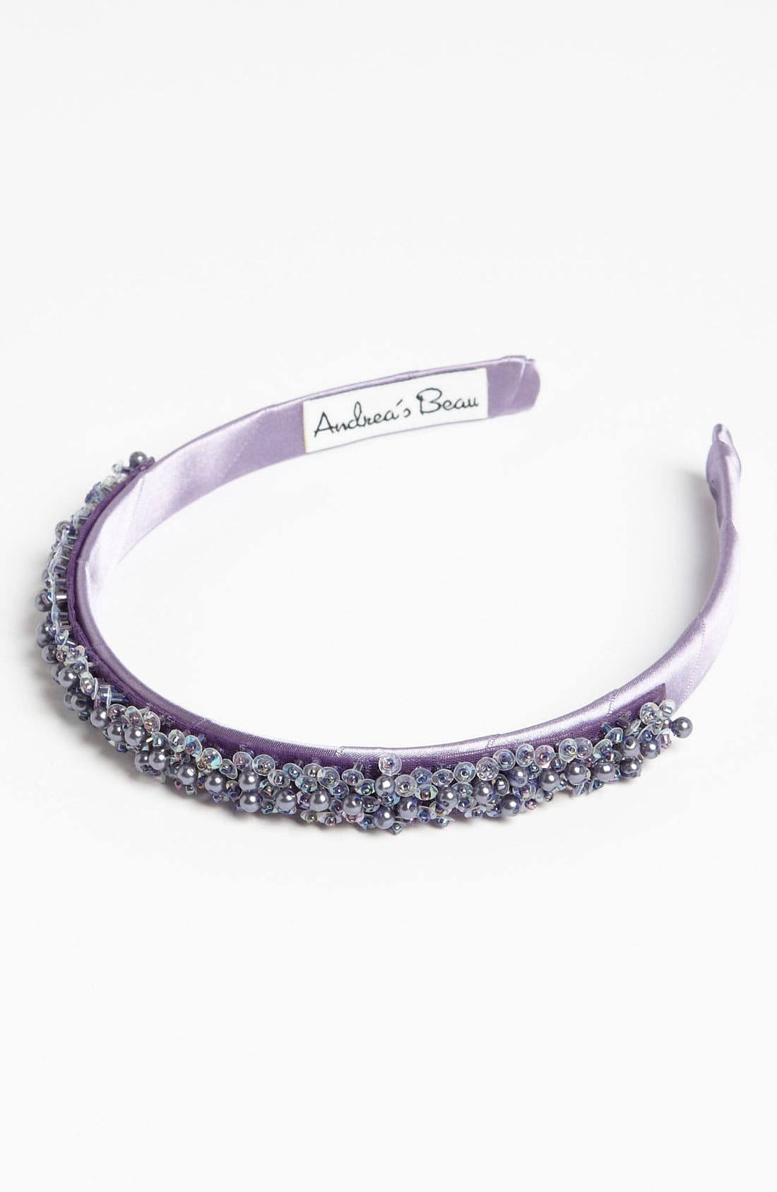 Alternate Image 1 Selected - Andrea's Beau Beaded Headband (Girls)